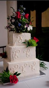 Garden wedding cake, wedding cake, real flowers wedding cake