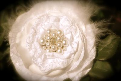 Bridal Ivory Fabric Flower