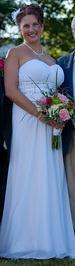 Custom wedding dress, chiffon wedding dress, sweetheart neckline wedding dress, wedding dress with beading